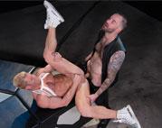 Chris Bines tops muscle bottom Johnny V