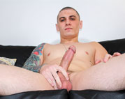 Hot recruit Alex Michaels strokes his hard dick
