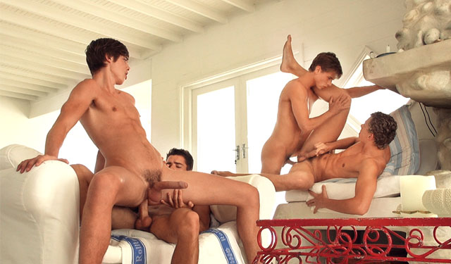 Kevin, Helmut, Jerome and Gino in a raw foursome