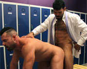 Jean Franko fucks Gabriel Lunna in the locker room