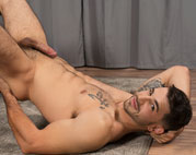 Lorenzo plays with his cock at Sean Cody