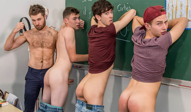 French Twinks: Slutty High School Boys (One Hour Detention)