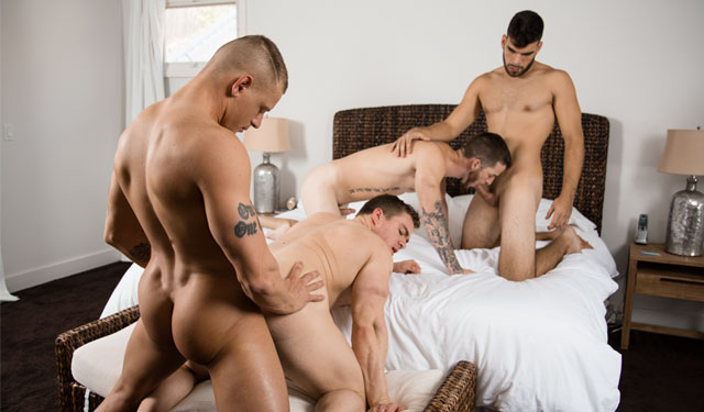 Next Door Studios: Quentin, Zey, Eric and Gunner in Bros before Hoes