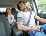 Hung Uber Cliff Jensen driver jerks off