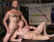 Hairy daddy Damon Andros fucks Brian Bonds