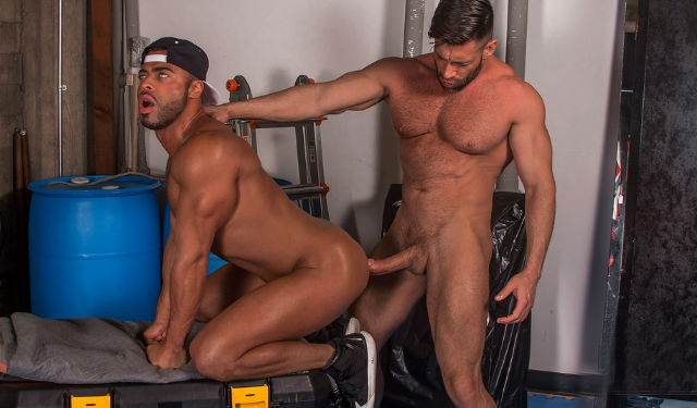 Bruce Beckham and Micah Brandt in a hot flip-fuck