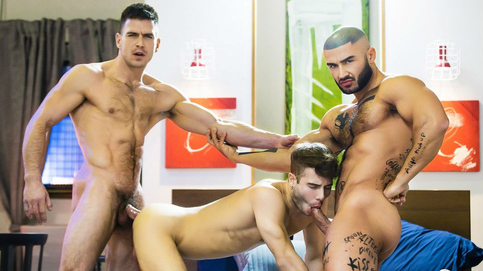 Allen King, Paddy O'Brian and Francois Sagat threesome