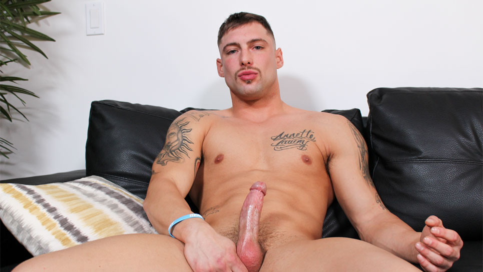 Calvin jerks off and shoots his load at Active Duty