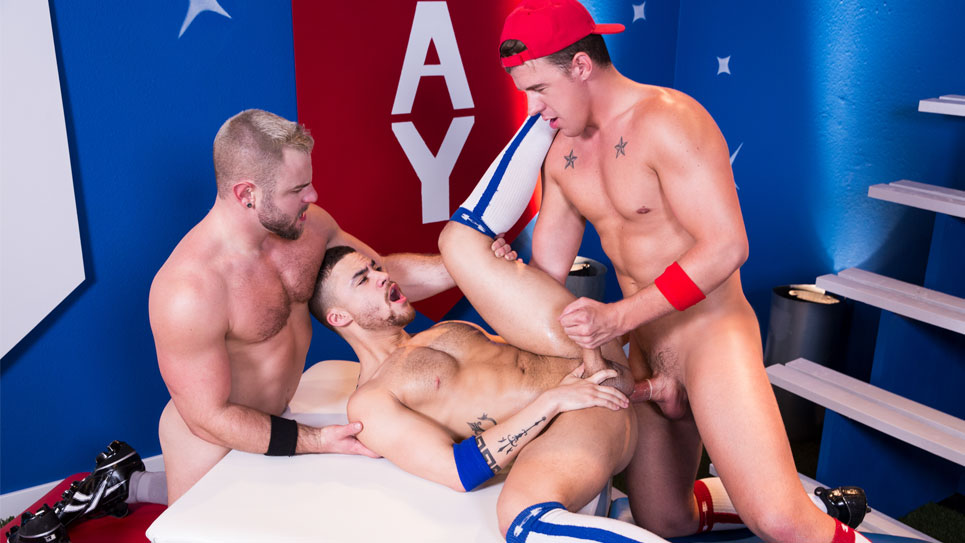 Beaux Banks gets fucked by JJ Knight and Nick Sterling