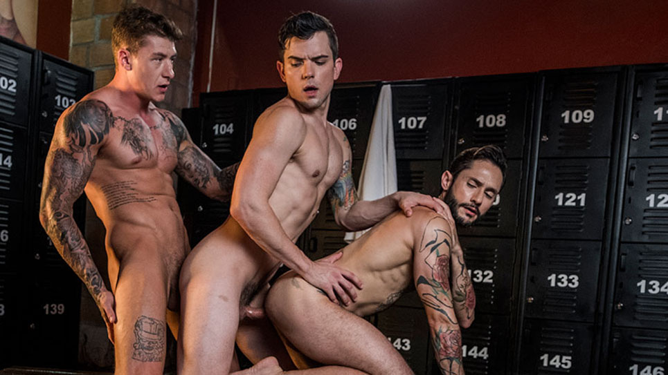 Geordie Jackson, Rod Fogo and Dakota Payne fuck