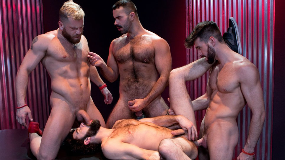 Woody, Riley Mitchell and Teddy plow Tegan's ass