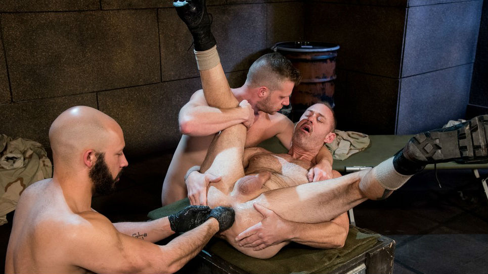 Dylan Strokes glides fist deep into D Arclyte and Brian Bonds