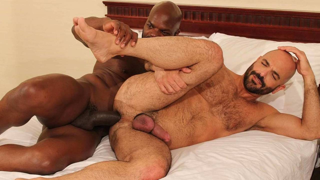Adam Russo takes Cutler X's 11 inch monster cock