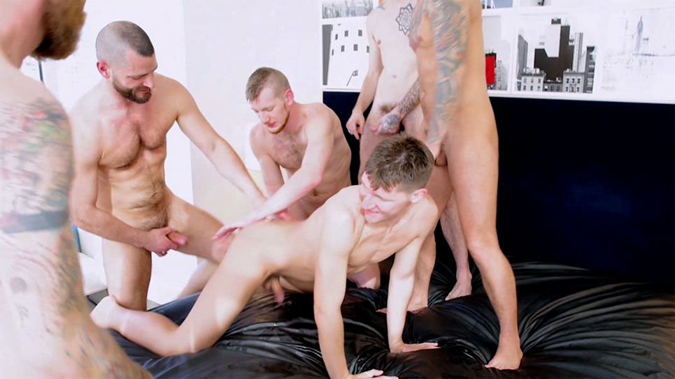 Dakota Wolfe's bareback gangbang – part 2