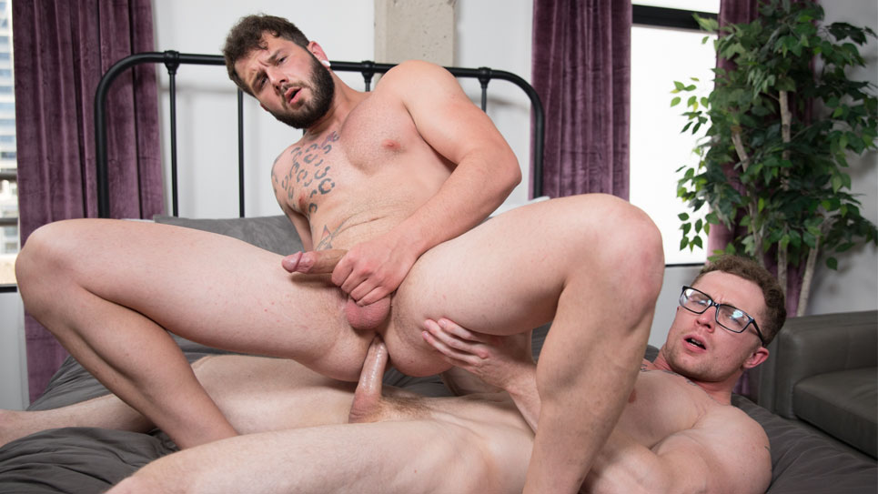 Next Door Studios: Markie More and Johnny Hill flip-fuck