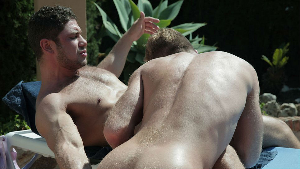 Dato Foland fucks Gabriel Phoenix at the pool