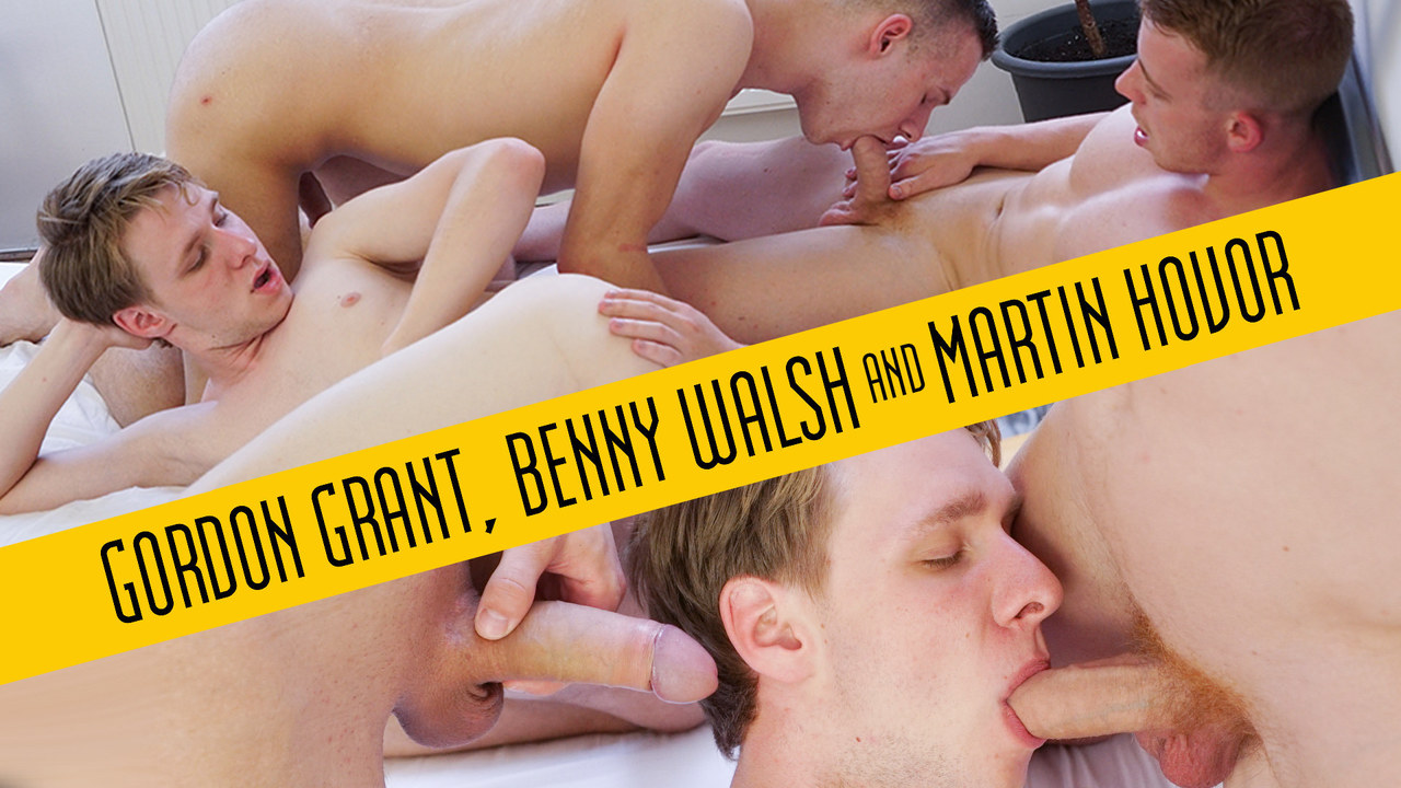 Gordon Grant, Benny Walsh and Martin Hovor in a raw threeway