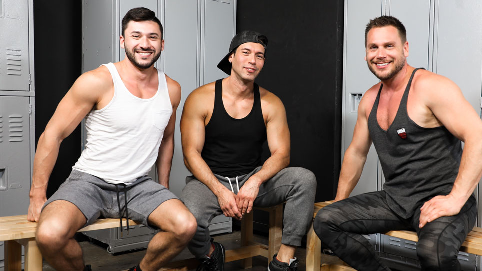 Alexander Garrett, Scott Demarco and Hans Berlin fuck