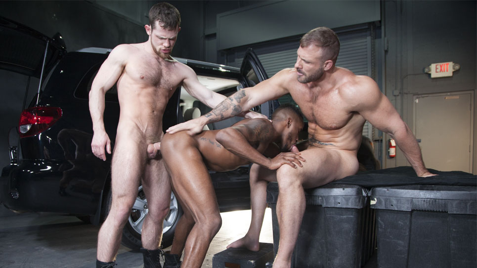 Kurtis Wolfe, Austin Wolf & Pheonix Fellington in a hot threeway