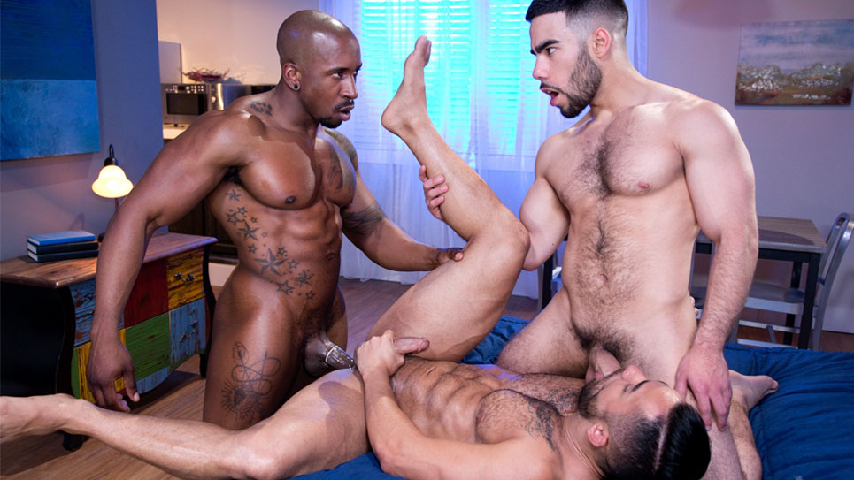 Raging Stallion: Max Konnor, Papi Suave and Bruno Bernal fuck