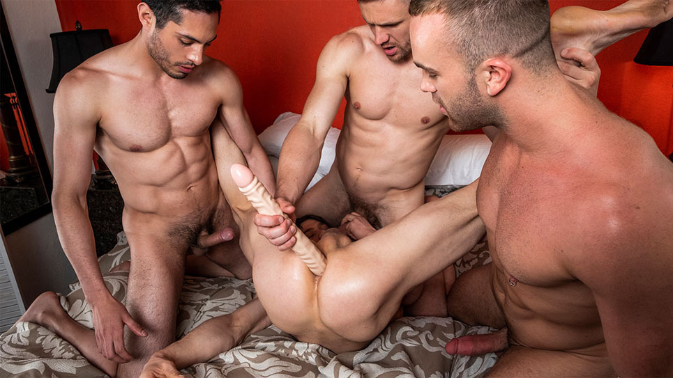 Ashton Labruce and Andrey Vic bareback Ruslan Angelo and Jackson Radiz