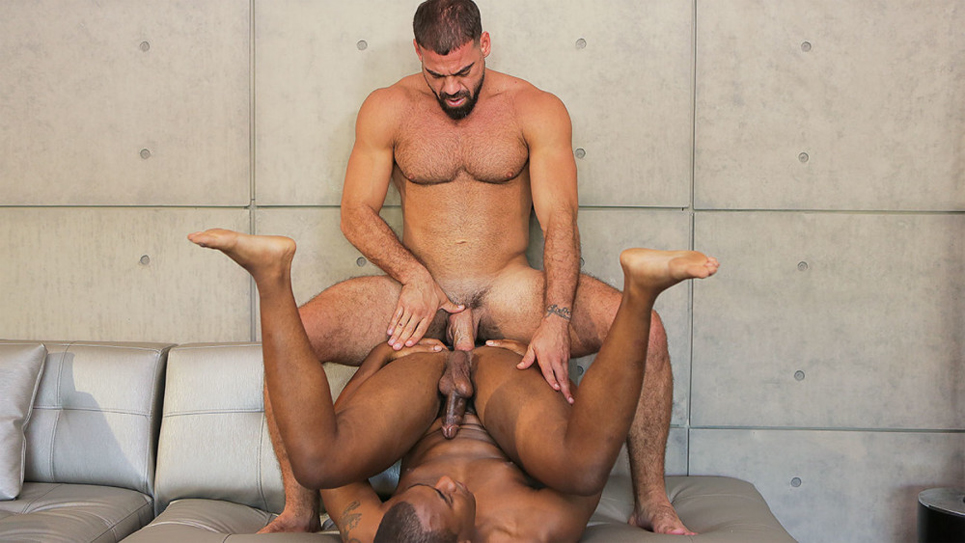 Buck Wright bottoms for hairy top Ricky Larkin