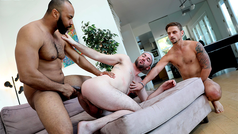 Blacks On Boys: Ray Diesel fucks Alex Mason and Jackson Reed