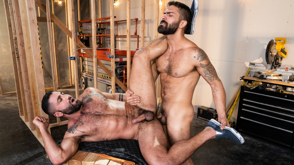 Adam Ramzi pumps Sharok's hairy ass full of cum