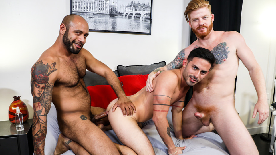 Bennett Anthony, Cesar Rossi and Leo Forte fuck each other