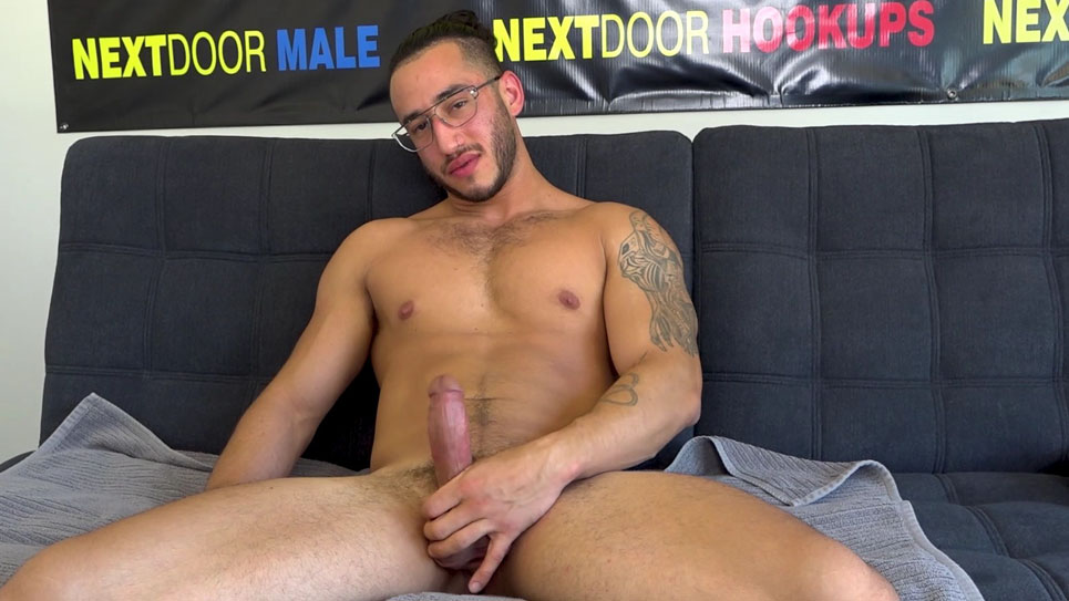 Xavier Cole jerks off while auditioning at Next Door Studios