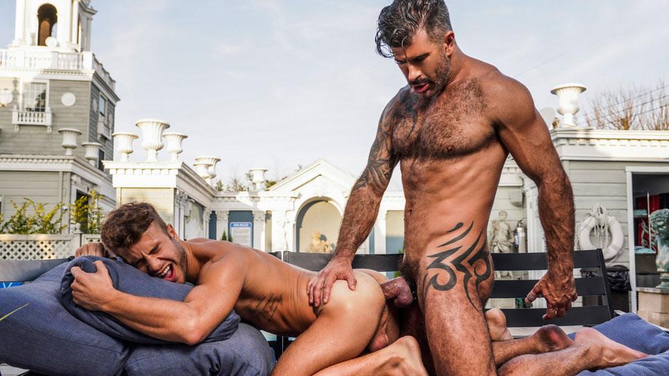 Allen King takes Adam Killian's raw cock at Lucas Entertainment